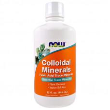 Коллоидные минералы Now Foods, 946 мл