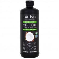 Nutiva, Органическое триглицеридное масло из кокоса, без вкуса, 32 жидких унции (946 мл)