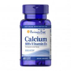 Кальций с витамином Д3 Puritan's Pride, 60 таблеток