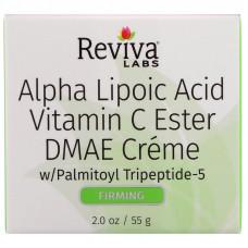 Reviva Labs, Крем с альфа-липоевой кислотой, витамином C в эфирной форме и ДМАЭ, 2 унции (55 г)