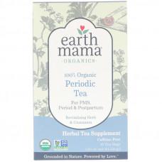 Earth Mama, 100% органический чай для особых дней, восстанавливающие травы и корица, 16 чайных пакетиков