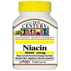21st Century, Ниацин, 100 мг, 110 таблеток