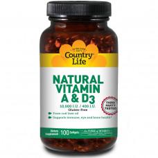 Витамин А/Д (10,000/400 МЕ) Vitamin A & D Contry Life 100капс.