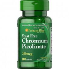 Хром пиколинат Puritan's Pride 200 мг, 100 таблеток