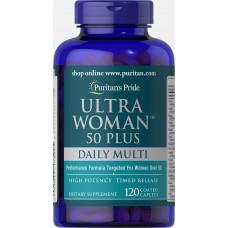 Витамины для женщин старше 50 лет Puritan's Pride Ultra Woman 50 Plus Daily Multi Timed Release 120к