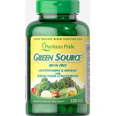 Натуральные витамины и минералы Green Source, 60 таб.