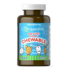 Мультивитамины для детей Puritan's Pride  (жевательные) (100таб.)