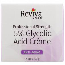 Reviva Labs, Крем с 5% гликолевой кислотой, 1,5 унции (42 г)