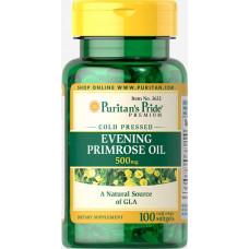 Масло Примулы Вечерней  Puritan's Pride Evening Primrose Oil, 500мг (100капс.)