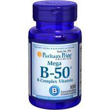 Комплекс витаминов группы В В compКомплекс B-50, Puritan's Pride Vitamin B-50® Complex, 100 таблеток