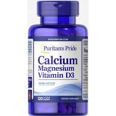 Кальций и магний с витамином D Puritan's Pride, 120 таблеток