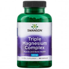 Магний тройной комплекс Swanson 400 мг, 100 капсул