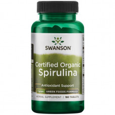 Swanson, Спирулина ( 100% Organic Spirulina ) (500 мг) 180 таб.