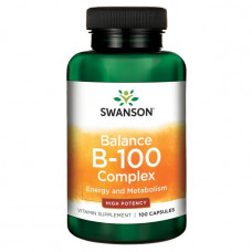 Комплекс витаминов группы В В complex Swanson, Витамин В-100 баланс (100капс.)