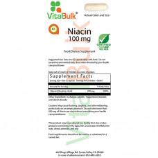 VitalBulk Ниацин Bитамин Б3  Ниацин Vitamin B3 - Niacin  100 мг (100 капс.)