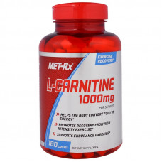 MET-Rx, Карнитин, L-Carnitine, 1000 мг, 180 таблеток