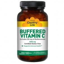 Буферизованный витамин C, Country Life 1000 мг, 100 таблеток