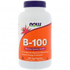 Комплекс витаминов группы В В complex Now Foods, B-100, 250 капсул