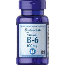 Пиридоксин, Витамин B-6  100мг (100таб.)