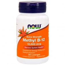 Витамин В12 метилкобаламин (Fully active B12 methylcobalamin) Now Foods (10,000 мкг) 60 леденцов