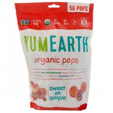 YumEarth, Органические леденцы, Несколько вкусов, 50+ леденцов, 12,3 унции (349 г)