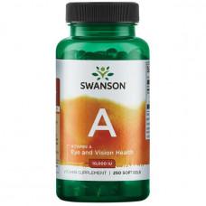 Витамин A Vitamin A Swanson 10000МЕ 250 капс.