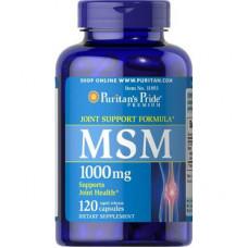 MSM органическая сера Puritan's Pride 1000 мг, 120 капсул