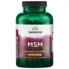 MSM органическая сера Swanson 1500 мг, 120 капсул
