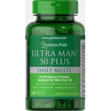 Витамины для мужчин 50+ Puritan's Pride, 60 таблеток Puritan's pride Ultra Man™ 50 Plus (60 таб.)
