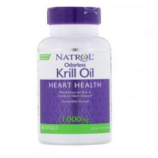 Natrol, Масло криля без запаха, 1000 мг, 30 мягких желатиновых капсул