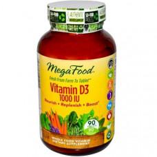 MegaFood, Витамин D3 1000 МЕ, 90