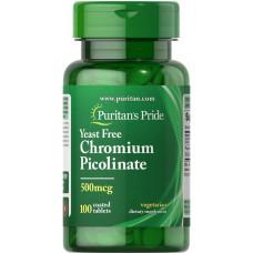 Хром пиколинат Puritan's Pride 500 мг, 100 таблеток