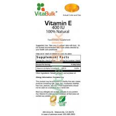 VitalBulk, Витамин Е токоферолы TocopherolsVitamin E 400 IU 100шт