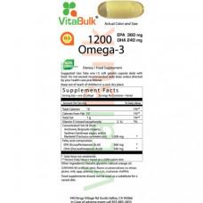 VitalBulk Омега 3 1200 мг 30cups