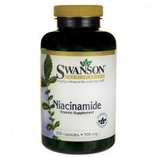Ниацинамид, витамин В-3, Niacinamide  Swanson  500 мг, (250 капс.)