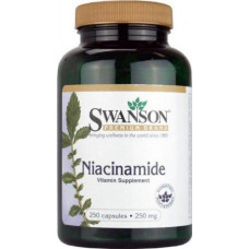 Ниацинамид, витамин В-3, Niacinamide Swanson,  250 мг, Swanson, (250 капс.)