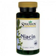 Bитамин Б3  Ниацин Vitamin B3 - Niacin  Swanson, Bитамин В3  100 мг, 250 таблеток