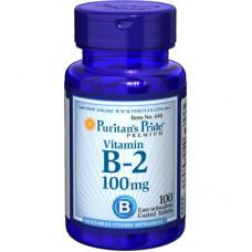 Витамин В2 Vitamin B2  Puritan's Pride,  (100 мг) 100 таб.
