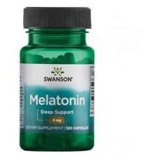Мелатонин Здоровый сон 3 мг, 120 капс, Swanson