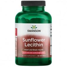 Подсолнечный Лецитин, Sunflower Lecithin, Non-GMO, 1, Swanson, 1.200 мг, 90 капсул