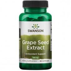 Экстракт Виноградных косточек, Grapeseed Extract (Standardized), Swanson 100 мг, 60 капс.
