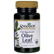 Олива, Swanson, Olive Leaf, 400 мг, 60 капсул