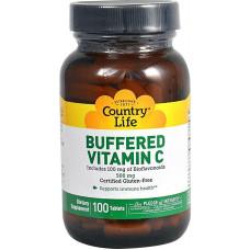 Буферизованный витамин C, Country Life 500 мг, 100 таблеток