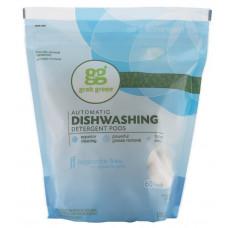 Grab Green, моющее средство для автоматических посудомоечных машин в таблетках, без запаха, 60 загрузок, 1080