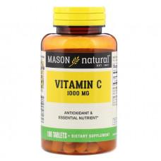 Витамин С - 1000 (Vitamin C - 1000) Mason Natural, 1,000 мг, 100 таблеток