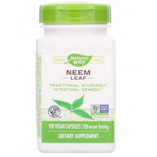 Nature's Way, Лист нима, 950 мг, 100 веганских капсул