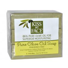 Чистое мыло с оливковым маслом, Kiss My Face, без отдушек