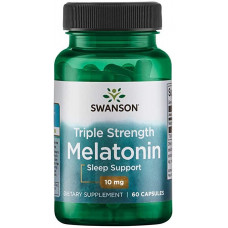 Мелатонин тройной силы, Swanson 10 мг, 60 капс, Swanson