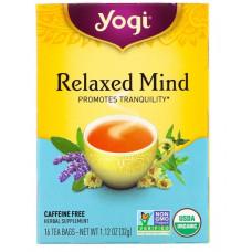 Yogi Tea, Relaxed Mind, органический чай, без кофеина, 16 чайных пакетиков, 32 г (1,12 унции)
