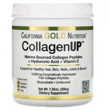 Коллаген из морских источников с гиалуроновой кислотой и витамином С, California Gold Nutrition